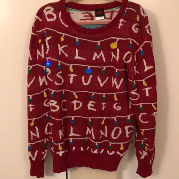 Netflix Sweaters Stranger Things Light Up Sweater Poshmark